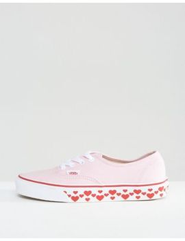 vans-authentic-sneakers-with-heart-sole by vans