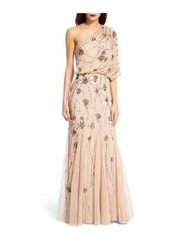 adrianna-papell-beaded-one-shoulder-gown by adrianna-papell