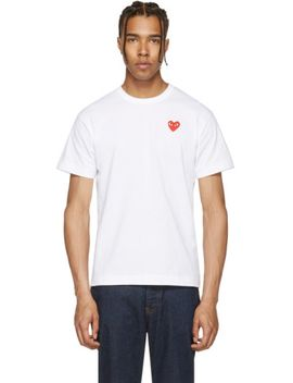 white-&-red-heart-patch-t-shirt by comme-des-garÇons-play