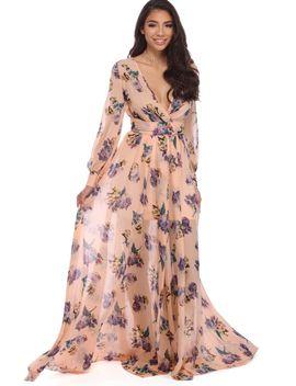 Shoptagr   Bree Pink Floral Chiffon Dress by Windsor