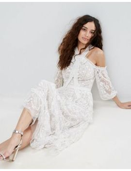 needle-&-thread-primrose-lace-cold-shoulder-dress by needle-&-thread