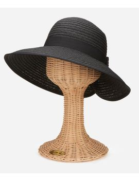 Women's Sun Brim With Back Bow And Conrast Edging by San Diego Hat