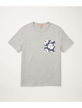 Poppy Floral Pocket T Shirt by Jack Spade