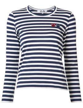 striped-heart-logo-t-shirt by comme-des-garçons-play