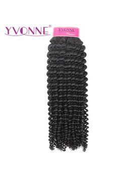 yvonne-kinky-curly-virgin-brazilian-hair-weave-4a-4b-unprocessed-human-hair-bundles-natural-color by aliexpresscom