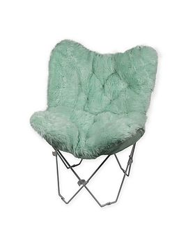 Shoptagr Faux Fur Butterfly Chair By Bed Bath And Beyond