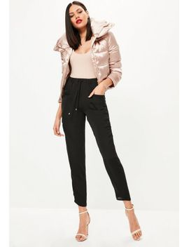 stone-cord-dungaree-jumpsuit by missguided