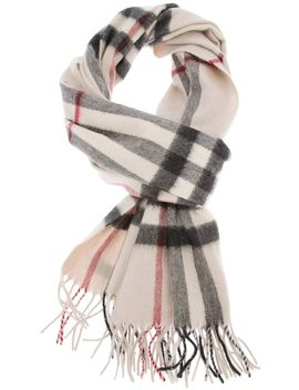 classic-check-cashmere-scarf by burberry
