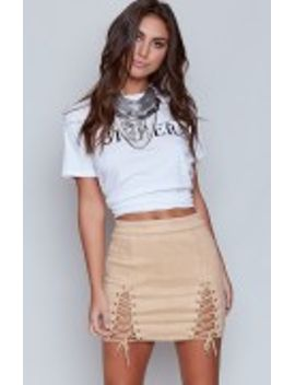 B X Runaway Bromley Mini Skirt Stone by Beginning Boutique