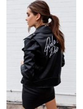 Ride Or Die Biker Jacket Black by Beginning Boutique