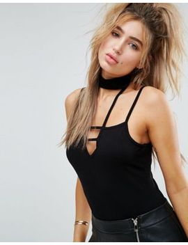 asos-choker-top-with-square-neck-caging by asos-collection