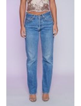 Vintage Levi Jeans Mid Blue by Beginning Boutique