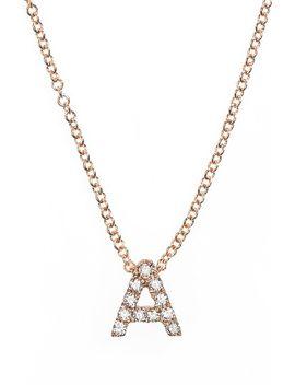 pavé-diamond-initial-pendant-necklace by bony-levy