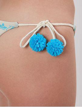 Blue &Amp; White Isla Baru Bikini Bottoms by Sophie Anderson X Heidi Klein