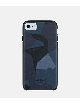 I Phone 7 Camo Navy Case by Jack Spade