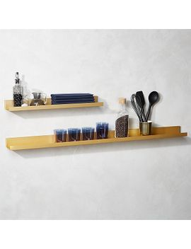 metal-gold-wall-shelves by crate&barrel