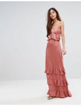 yas-studio-ruffle-maxi-dress-with-lace-inserts by yas