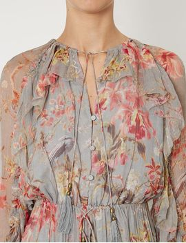 Blue Floral Mercer Floating Playsuit by Zimmermann