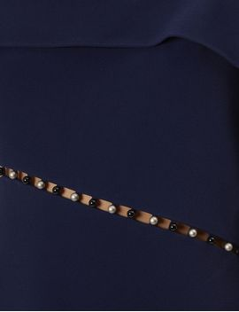 Navy Pearl Studded Strap Dress by Jonathan Simkhai