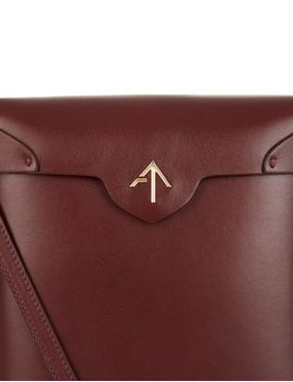 Brown Leather Pristine Box Bag by Manu Atelier