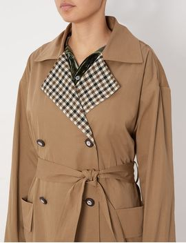 Pebble Cotton Trench Coat by Isa Arfen