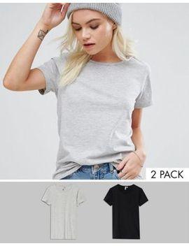 asos-design-petite-ultimate-crew-neck-t-shirt-2-pack-save by asos-petite