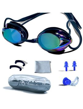 swimming-goggles,-phelrena-professional-swim-goggles-anti-fog-uv-protection-no-leaking-for-adult-men-women-kids-swim-goggles-with-nose-clip,-ear-plugs,-protection-case-and-interchangeable-nose-bridge by phelrena