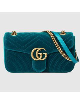 e1e496486ca1 Shoptagr   Sac à épaule Gg Marmont En Velours by Gucci