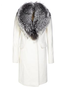 Diane Von Furstenberg Coat Cream by Fashionesta