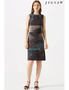 Ocean Tide Jacquard Dress Jigsaw