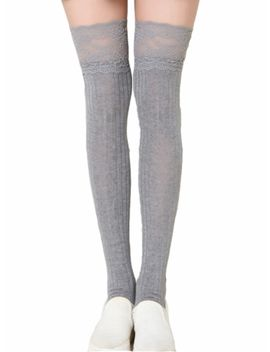 Women's Lace Above Knee Stockings by Jollychic