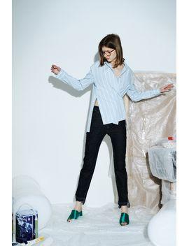 Frs Oversized  Stripe Shirt by Designer
