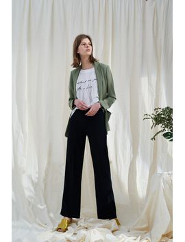 Frs Straight Cut Black Trousers by Designer