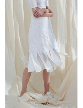 Frs A Line Skirt With Strap Detail by Designer