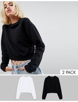 asos-cropped-sweatshirt-2-pack-save-10% by asos-collection