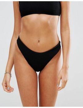asos-design-mix-and-match-crinkle-high-leg-hipster-bikini-bottom by asos-design