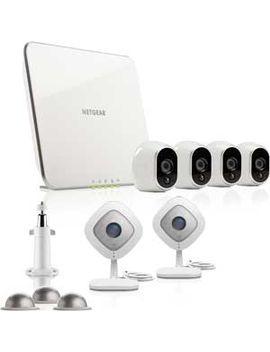 Arlo Security Camera With 4 Wire Free Outdoor Hd & 2 Arlo Q 1080p Indoor Hd Cameras   White : Vmk35400 100 Nas by Arlo