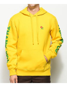 Shoptagr | Chinatown Market Thank You Rose Yellow Pullover Hoodie ...