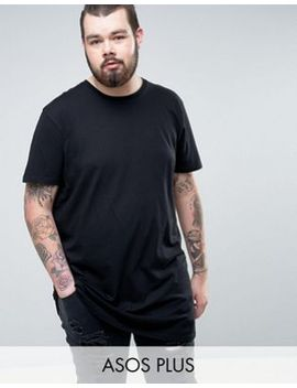asos-plus-super-longline-t-shirt-with-crew-neck by asos