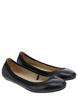 Isabelle Elasticated Leather Ballerina Flat Shoes by Accessorize