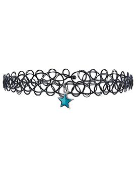 Mood Star Tattoo Choker Necklace by Accessorize