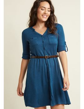 ta-okay-shirt-dress-in-blue by modcloth