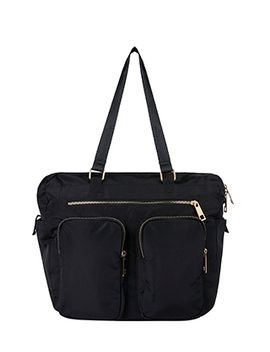 Double Pocket Nylon Day Bag by Accessorize