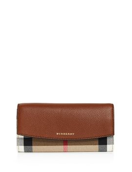 house-check-porter-leather-wallet by burberry