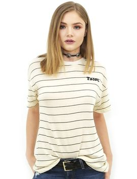 Wildfox Tacos Sonic Tee In Vailla Latte by Wildfox