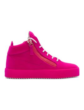 Purple Flocked May London High-Top Sneakers Giuseppe Zanotti