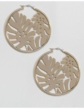 skinnydip-gold-hoop-earrings-with-palm-leaf by skinnydip