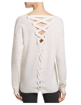 lace-up-back-cashmere-sweater---100%-exclusive by aqua-cashmere