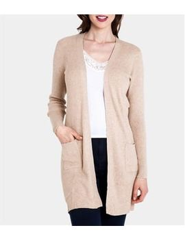Womens Silk And Cotton Long Rib Cardigan by Wool Overs