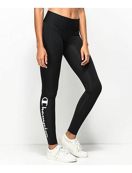 champion-black-&-white-script-leggings by champion